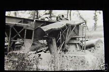 Glass Magic lantern slide BIG GUN BETWEEN PERONNE & ALBERT WW1 WORLD WAR ONE