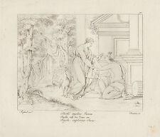 1805 Raffaello incisione in acciaio Psichè implora Giunone