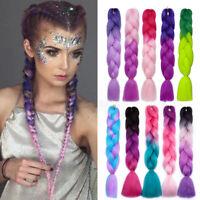 24'' Ombre Kanekalon Jumbo Braid Synthetic Crochet Braiding Hair Extensions  US