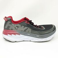 Hoka One One Mens Bondi 5 1014757 BFON Black Red Running Shoes Lace Up Size 9.5