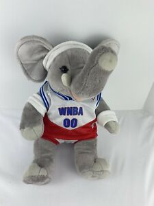 "Build-A-Bear Workshop Elephant Plush WNBA Outfit And Backpack 19"" Tall BABW"