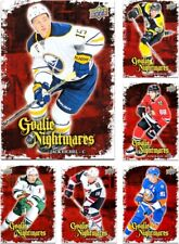 2016-17 UD Goalie Nightmares **** PICK YOUR CARD **** From The Inserts SET