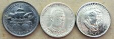 3 Commemorative Half Dollars; 1893 Columbian, 1946 BT Washington, 1953 Wash Carv