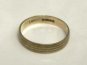 9ct Gold Wedding Ring Band 4mm wide size P