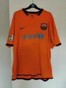 Barcelona Away 2006 - 2007 Football Shirt Mens XL Ronaldinho Authentic