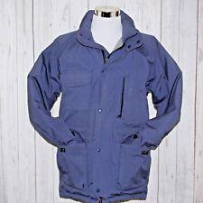 Vtg 90s Eddie Bauer Medium Goose Down Blue Expedition Coat No Hood Made In USA