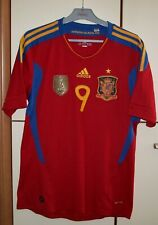 Spain 2011 - 2012 Home football shirt jersey Adidas size M #9 Torres