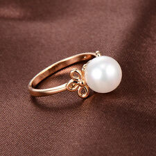 Cute girls Kids jewelry Childrens 14k gold plated Pearl WomensTai Ring Size 3.5
