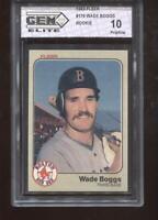 Wade Boggs RC 1983 Fleer #179 Red Sox Rookie GEM Elite 10 Pristine
