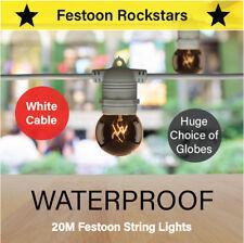 20m White Festoon Lights | Huge Selection of Globe, Outdoor String Lighting