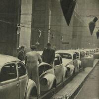 German Volkswagen Type 1 Car Photo Book 1949 Beetle VW KDF Wagen Industrial 40s