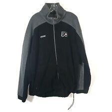 Philadelphia Flyers CCM Full Zip Up Logo Fleece Jacket Size L NHL Center Ice
