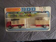 Matchbox 900 TP-19 Cattle Truck & Trailer SCARCE VARIETY Black & Brown Steers