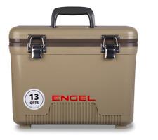 NEW DESIGN 2018 ! Engel Cooler Dry Box TAN 13 Quart w/ Shoulder Strap and Tray