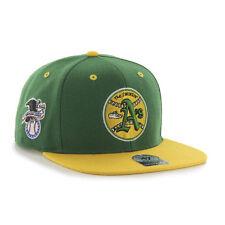Oakland Athletics The Swingin' A's 47 Brand Snapback Hat Cap Flat Brim Sure Shot