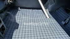 1968-1970 Charger RUBBER TRUNK MAT Gray Plaid 68 69 70