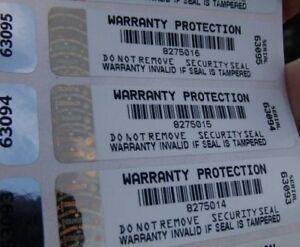Warranty Void Labels Tamper Evident Security Stickers hologram side label x 1000