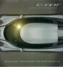 Koenigsegg NLV Quant Solar Concept Car 2009 Foldout Sales Brochure In English