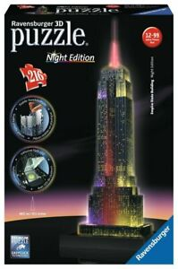 Ravensburger 3D Puzzle Night Edition - Empire State Building 216 Piece