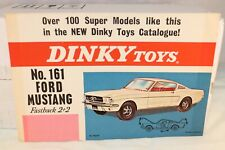 Dinky Toys Poster 161 Ford Mustang Fastback in excellent+ condition VERY RARE