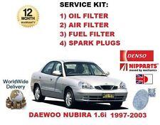 für DAEWOO NUBIRA 1.6 1997-2003 NEU Öl Luft Kraftstoff Filter + 4x