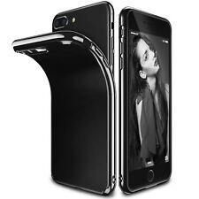 Housse Noir Etui Protéger Antichoc Silicone Coque pour Apple iPhone 8 7 6s Plus
