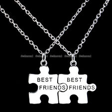 Hot Sale New Best Friends Forever Silver Tone 2pcs Puzzle Pendant Necklace Gifts