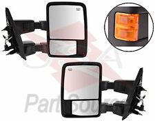 99-07 Ford F250 350 450 550 Towing Mirrors Power Heated Signal Amber Orange