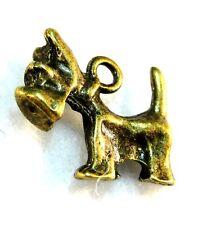 10Pcs. Tibetan Antique Bronze Scottie Terrier Dog Charms Pendants Ear Drops D46