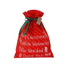 """3er Set Geschenkbeutel """"Merry Christmas M"""" Weihnachten Geschenksack Nikolaus"""