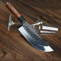 Longquan Chef kitchen knife Traditional Hand Forged High Manganese Steel #1224