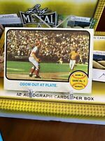 1973 Topps #207 WS Game 5 - Odom Out at Plate - Johnny Bench -