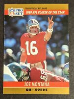Joe Montana 1990 NFL Pro Set #2 ERROR CARD 1989 NFL Player of the Year