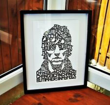 The Verve/R.Ashcroft/Bitter Sweet Symphony A3 size typography art print/poster