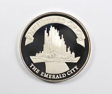 The Wizard Of Oz THE EMERALD CITY 2 Ounce 999 Silver Proof Coin COLLECTIBLE