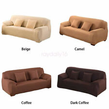 1/2/3/4 Seaters Soild Color Sofa Covers Dustproof Protector Couch Slipcover