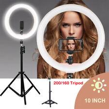"""Anillo de Luz Led Aro 10"""" Fotografía Maquillaje Streaming Trípode 2m Regulable"""