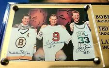 Boston Baseball Basketball Hockey Ted Williams Bobby Orr Larry Bird Plaque