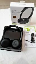 Avantree Wireless Headset with Boom Microphone for Computer Pc Cellphone Voip