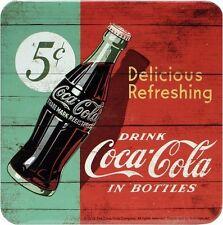Coca Cola Green Red Blech Untersetzer 9 x 9 cm Metall Tin Sign USE39