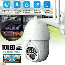 1080P HD WiFi PTZ Waterproof IP Camera Outdoor Motion Detection Two-way Audio