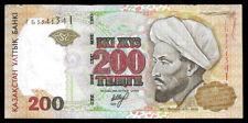 World Paper Money - Kazakhstan 200 Tenge 1999 P20 @ Crisp Vf+