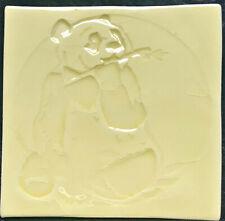 Handmade tile, Panda design - Primrose colour, SC made in  U.K.
