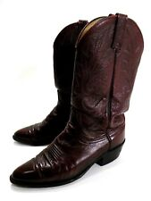 Mens 9 D Dan Post Western Leather Cowboy Boots Burgundy
