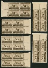 1956 3c US Postage Stamps Scott 1078 Wildlife Conservation Antelope Lot of 24
