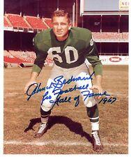 Chuck Bednarik  HOF Signed Autographed 8x10