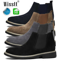 Men's Chukka Suede Leather Office Desert Oxford Ankle Boots Chelsea Shoes Sizes