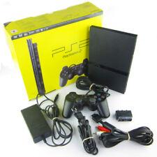 PLAYSTATION 2 PS2 KONSOLE SLIM LINE SCHWARZ + ORIG. CONTROLLER + ALLE KABEL OVP