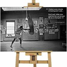 Muhammad Ali cita vida como un campeón de lona Impresión Pared Arte