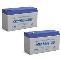 Power-Sonic 2 Pack - UPG UB1290 12V 9AH Sealed Lead Acid Battery F1 Terminal